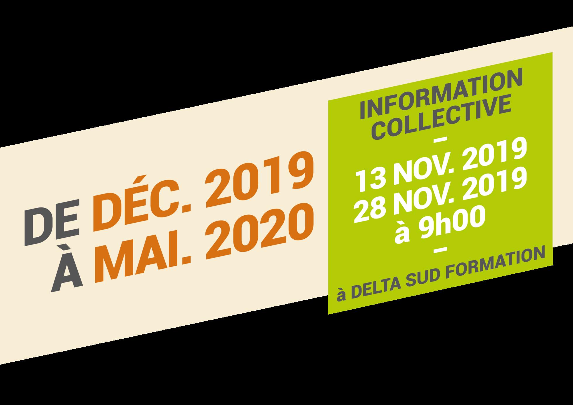 Bandeau avec la période de formation Mûrisseur - Affineur 2019-2020 et la date d'information collective