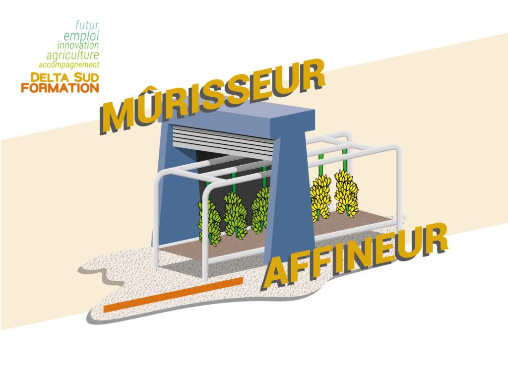 Illustration décoratif Mûrisseur - Affineur, avec le titre de l'article.
