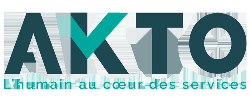 Logo Akto. L'humain au cœur des services
