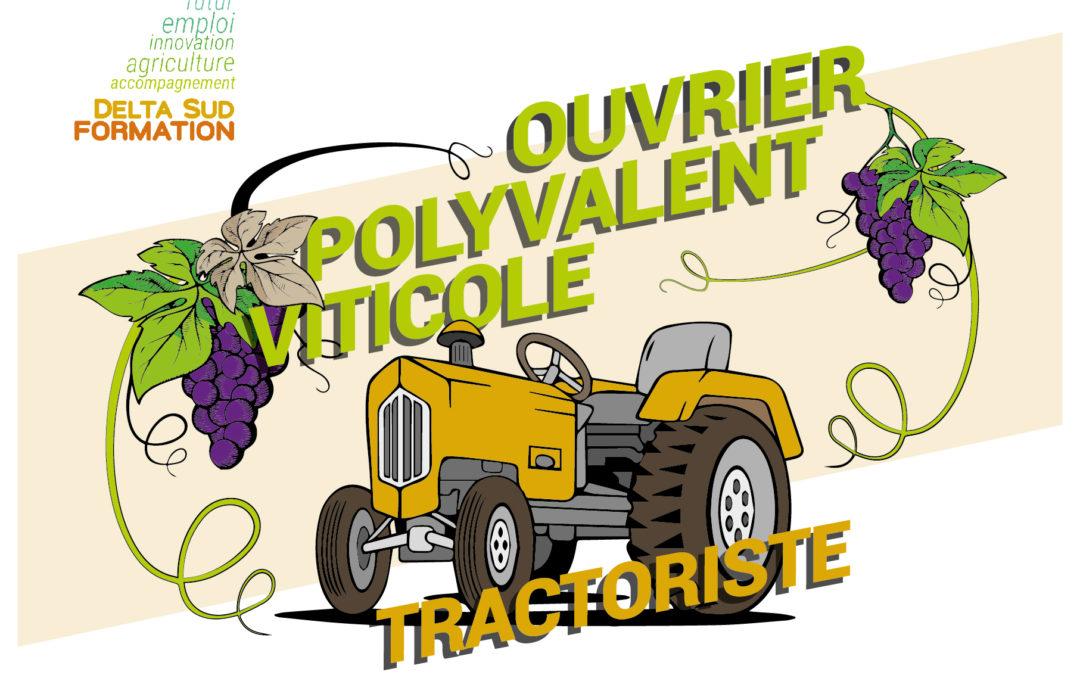 Ouvrier Polyvalent Viticole Oléicole – Tractoriste